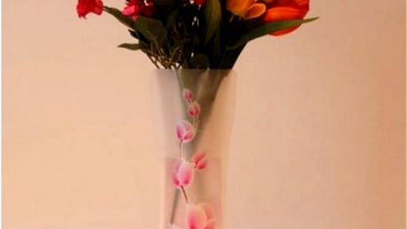 Skládací váza s potiskem květin