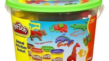 PLAY-DOH Kyblík s podložkou, 4 kelímky a doplňky