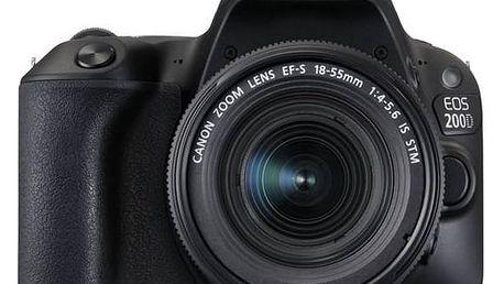 Digitální fotoaparát Canon EOS EOS 200D + EF18-55 IS STM (2250C002) černý + Doprava zdarma