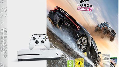 XBOX ONE S, 1TB, bílá + Forza Horizon 3 - 234-00114 + Druhý ovladač Xbox, bílý v ceně 1400 kč
