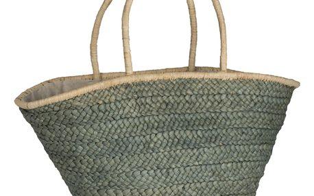 IB LAURSEN Slaměná taška Olive Green, zelená barva, béžová barva, proutí