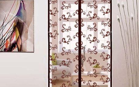 Magnetický závěs do dveří - Hnědá - 90 cm x 210 cm