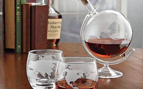 Originální karafa a skleničky Mixology Globe