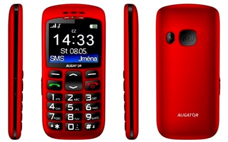 Mobilní telefon Aligator A670 Senior (A670R) červený