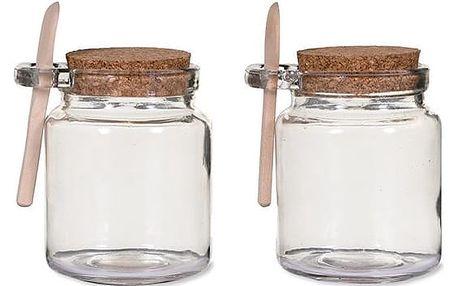 Garden Trading Set dvou skleniček Sprinkle Jars, čirá barva, sklo, dřevo