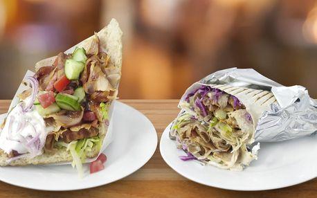Skvělý kebab a pití na náměstí Jiřího z Poděbrad