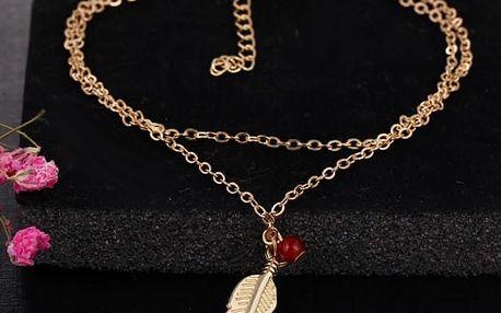 Dámský náhrdelník - lístek