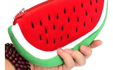 Plyšový penál ve tvaru melounu
