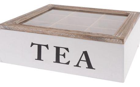 Box na čaj Tea 24 x 24 x 7 cm