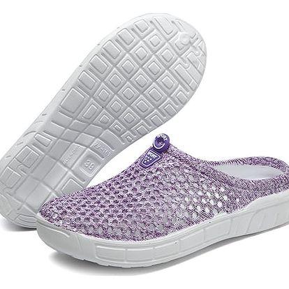 Prodyšné plážové boty - Fialová-40