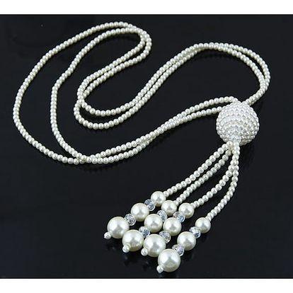 Dlouhý náhrdelník s masivním přívěskem