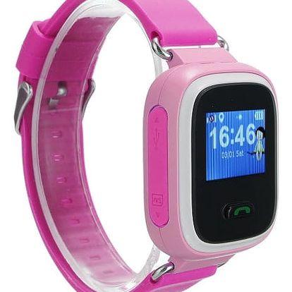 Inteligentní hodinky s GPS lokátorem pro děti - Růžová