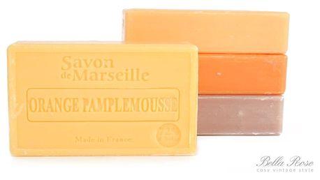 LE CHATELARD Mýdlo Marseille 100 g - pomeranč a grep, žlutá barva
