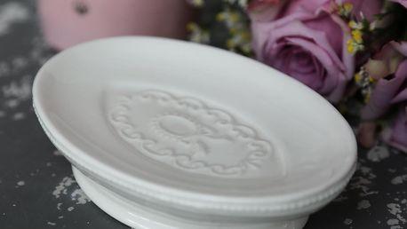 Chic Antique Mýdlenka Marie Antoinette, bílá barva, porcelán
