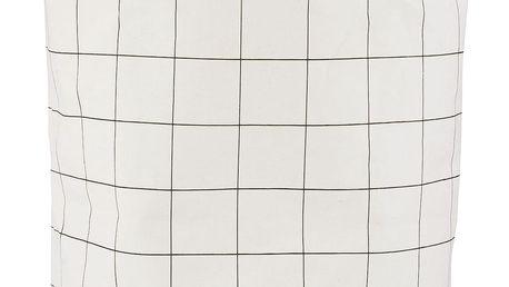 House Doctor Plátěný koš na prádlo Squares, černá barva, textil (slevový kód JEZISEK24 na -24 %)