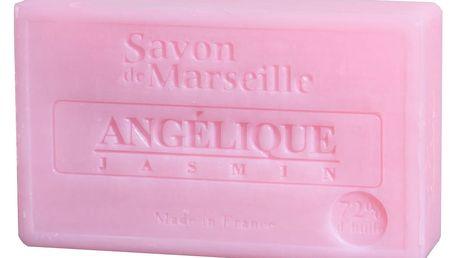 LE CHATELARD Francouzské mýdlo s vůní anděliky a jasmínu 100gr, růžová barva