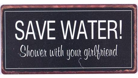 La finesse Magnet Save water, černá barva, kov