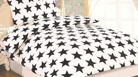 JAHU Povlečení Dallas Hvězda micro satén, 140 x 200 cm, 70 x 90 cm
