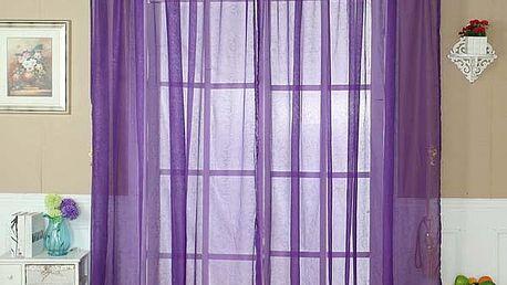 Tylové závěsy v několika barvách - fialové