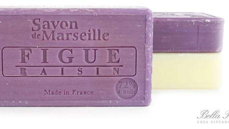 LE CHATELARD Mýdlo Marseille 100 g - fíky a hrozny, fialová barva