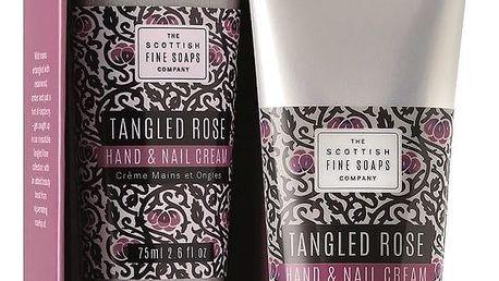 SCOTTISH FINE SOAPS Krém na ruce a nehty Tangled Rose 75 ml, růžová barva, fialová barva, černá barva, plast, papír