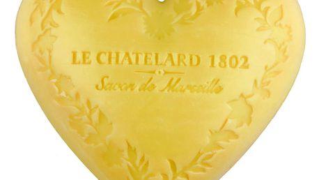 LE CHATELARD Mýdlo Heart - mandarinka a limetka 100gr, žlutá barva