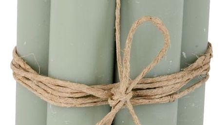 IB LAURSEN Svíčka světle zelená - set 6 ks, zelená barva