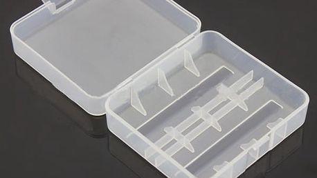 Plastové pouzdro pro 2 baterie 26650 – fialová