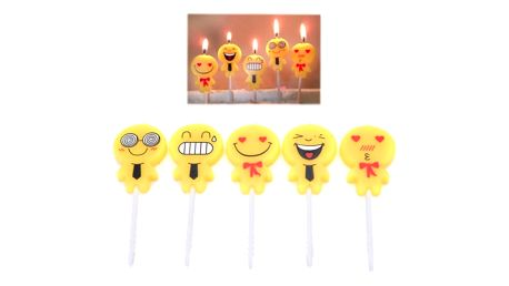 Roztomilé svíčky na dort Emoji