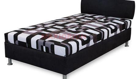 Postel Maws Tara s čelem 110 x 200 s matrací ALFA - černá