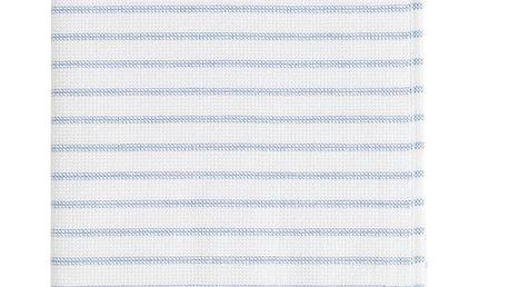 Tine K Home Pruhovaný ručník Pinstripe Blue 30x50 cm, modrá barva, bílá barva, textil