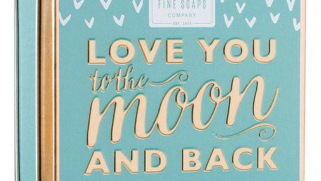 SCOTTISH FINE SOAPS Mýdlo v plechové krabičce Love you, modrá barva, kov