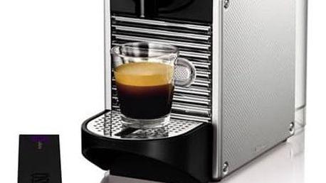 Espresso DeLonghi Nespresso Pixie EN125S stříbrné + Doprava zdarma