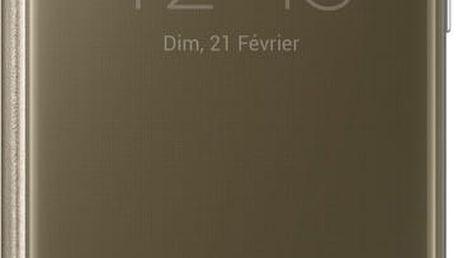 Samsung EF-ZG930CF Flip Clear View Galaxy S7, Gold - EF-ZG930CFEGWW