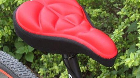 Pohodlný povlak na cyklistické sedlo