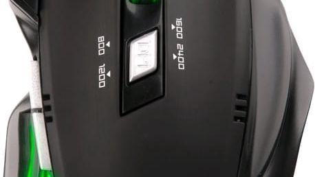 C-TECH Akantha, zelené LED - GM-01G