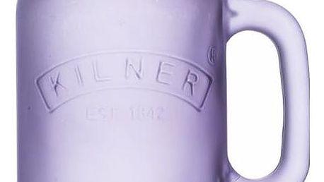 KILNER Sklenice s uchem Purple Frosted 400 ml, fialová barva, sklo