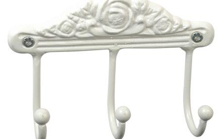 IB LAURSEN Kovový věšáček Rose white, bílá barva, kov