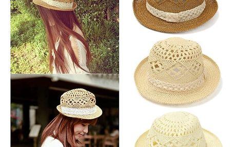 Unisex slaměný klobouk - kávová