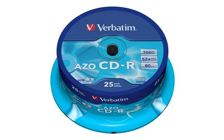 Verbatim CDR AZO Crystal 52x 80 minut spindl 25ks - 43352