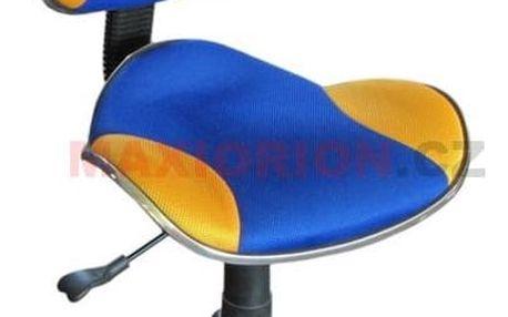 Kancelářská židle Q-G2 Signal 436 modrá/zlatá