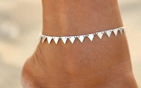 Trojúhelníčkový náramek na nohu - 2 barvy