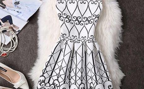Elegantní šaty s originálními motivy - Varianta 8 - Velikost 1