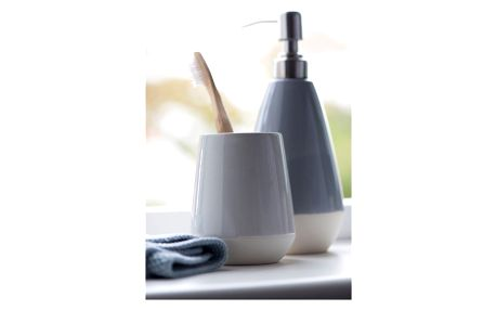 IB LAURSEN Kalíšek na kartáčky Glazed, šedá barva, beton