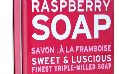 SCOTTISH FINE SOAPS Dárkové mýdlo v plechovce - malina, růžová barva, kov