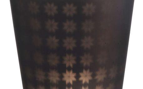 MADAM STOLTZ Skleněný svícen Mat brown, hnědá barva, sklo
