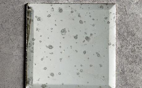tineKhome Zrcadlo s patinou Antique 10x10, čirá barva, sklo
