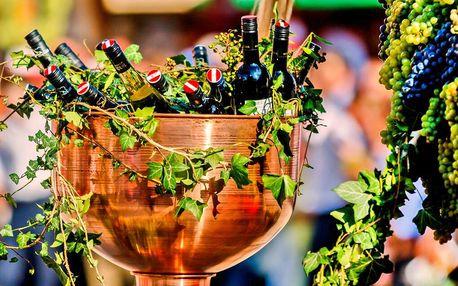 Vinobraní v Retzu, kde víno proudí i z kašen