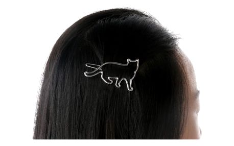 Spona do vlasů s kočičí siluetou