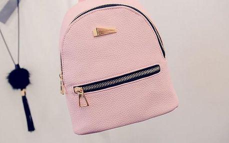 Městský batoh v elegantním provedení - Růžová